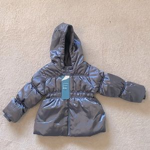 Old Navy Frost Free Girls Puffer Jacket 3T Grey